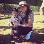 Trainer Rebecca and her son Grayson